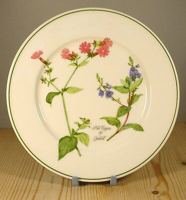 Portmeirion China Welsh Wild Flowers Pink Campion Tea Plate- Angharad Menna