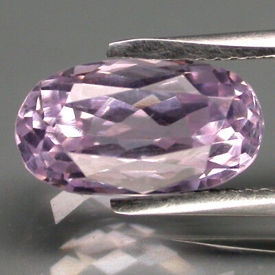 Flawless! 5.79 Ct. 13x8mm Oval Cut 100% Natural Top Purplish Pink Kunzite Brazil