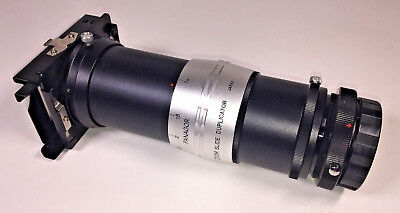 Panagor Zoom Slide Duplicator 1-2.5x, T2 Olympus OM mount, with instructions
