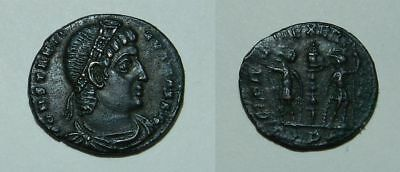 ANCIENT ROME :  CONSTANTINE I  307-337 A.D.  BRONZE 17mm - EF PORTRAIT