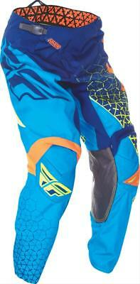 YOUTH motocross pants FLY KINETIC TRIFECTA size 20, blu/org 369-43120 waist 22""