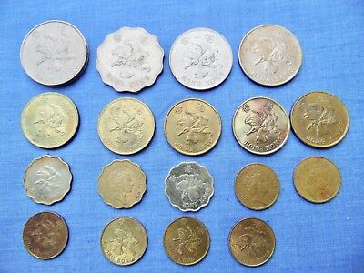 HONG KONG  1980's  1990's COIN COLLECTION DOLLARS  50  20  10 CENTS  COINS