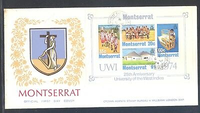 Montserrat FDC University of the West Indies 25th Anniversary 1974