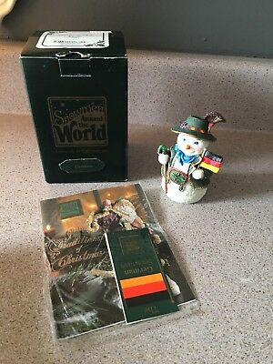 Galleria Lucchese Snowmen Around the World GERMAN Snowman Figurine 1997 Vintage