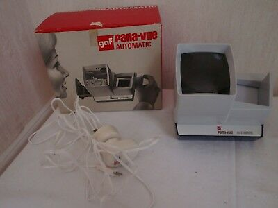 Vintage GAF Pana-Vue Automatic Slide Viewer 388/901 & TRANSFORMER(SHOWN WORKING)