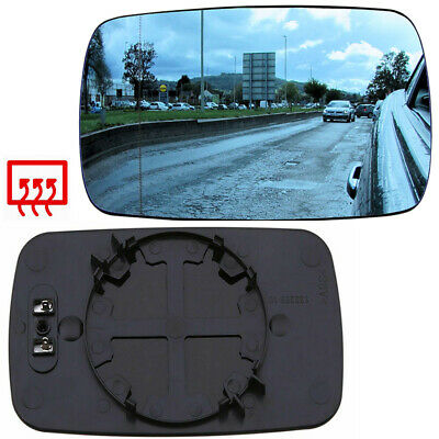 Driver Side Blue Door Wing Mirror Glass Heated For BMW E46 318 320 325 330 E65