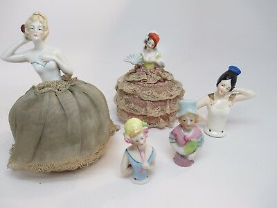 Antique Half Dolls Porcelain
