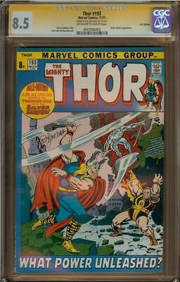 Thor #193 UK Edition CGC 8.5 Signature Series Signed SAL BUSCEMA Silver Surfer