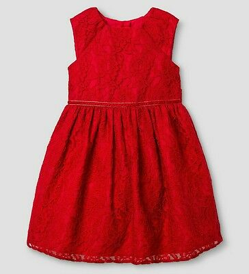 Toddler Girls Red Lace Dress Mia&Mimi for Target Formal Christmas Holiday 4T