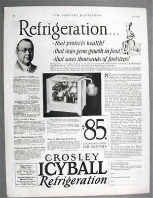 Original 1929 Crosley ICYBALL Refrigeration WITHOUT ELECTRICIY...REFRIGERATION