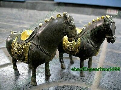 ma Worth collecting! Collectible Old Antique Style a pair of horse statue