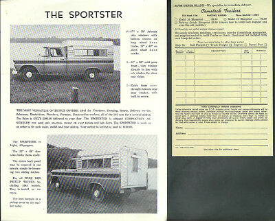 Comstock Trailers & Pickup Campers sales material 1961