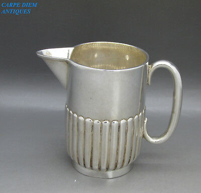 ANTIQUE STYLISH SOLID STERLING SILVER CREAM JUG, MAPPIN Bros 128g SHEFFIELD 1898