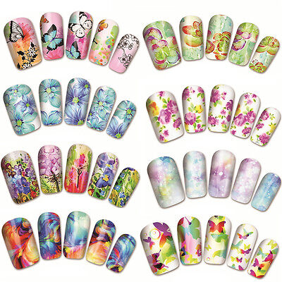 Nail Art Water Decals Transfers Stickers Butterflies Butterfly Gel Polish·