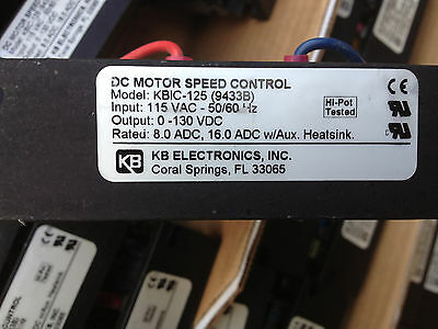 Made Usa Tested Used Dc Motor Speed Control Kbic-125 9433B 115Vac Kb Electronic