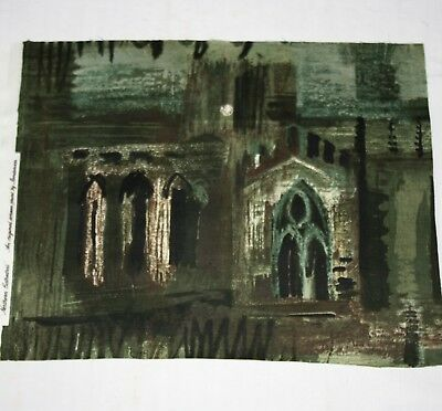 Vintage NORTHERN CATHEDRAL 1960s Art Textile by JOHN PIPER...