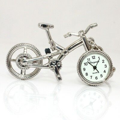 Hot Bike Bicycle Design Stainless Steel Pendant Watch Gifts Key Ring Home Deco
