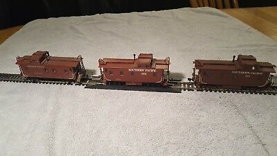 Vintage Ho,Lot of 3 Brass SP Cabooses, Nice Detail, Exc Cond,Must See