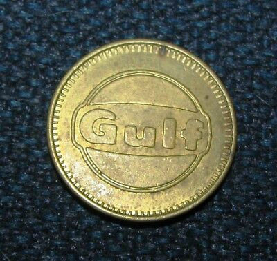 Lot of 5 Vintage GULF OIL GAS FREE CAR WASH TOKENS COINS MEDALLIONS Advertising