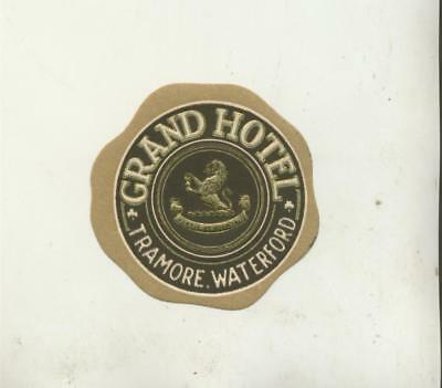 Grand Hotel Tramore Waterford Luggage Label