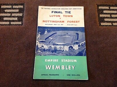 1959 Fa Cup Final Programme Luton Town V Nottingham Forest
