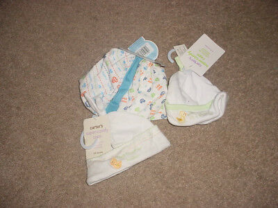 2 Carters 3 Gerber Boys Baby Beanies Hat Lot New