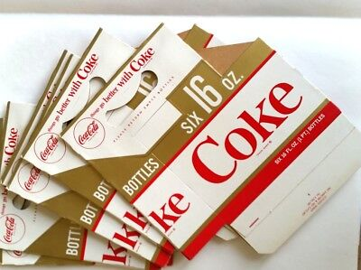 Five~ 1950's Things Go Better With Coke, un used,16 oz.  Bottle Carrier's
