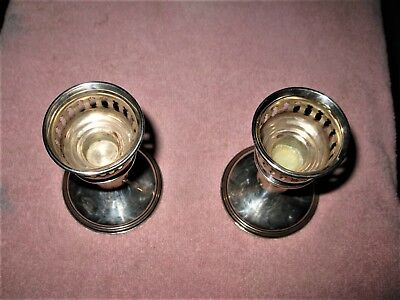 Vintage Set of 2 Reed & Barton Sterling Weighted Reinforced Candlestick Holders