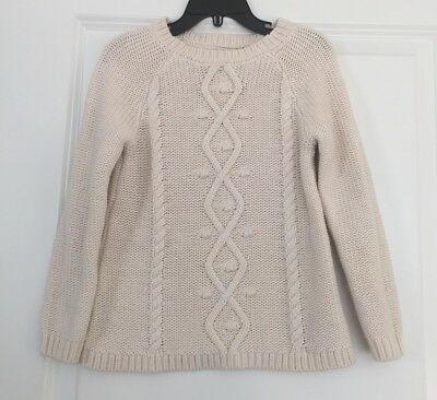 Euc Old Navy Girl's Swing Cable Pullover Dumpling Long Sleeve Sweater Sz 5T