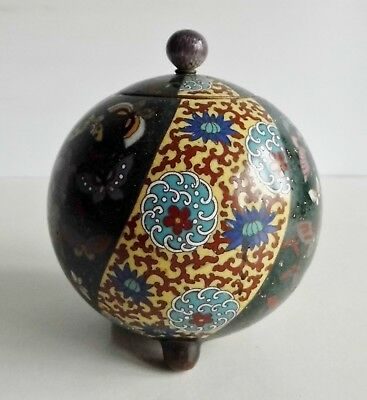 Exquisite Antique Japanese Lidded Cloisonne Container - Meiji Period - Stunning