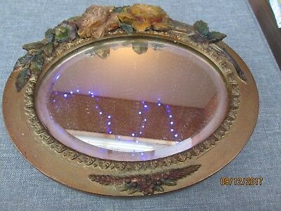Vintage 1920s 1930s Barbola  Mirror Shabby Chic Style