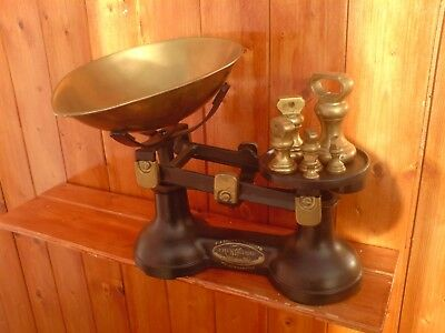 Vintage The Viking F.j Thornton & Co.ltd Cast Iron Scales With Bell Weight