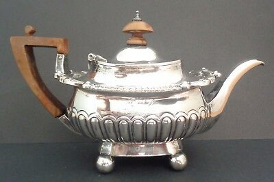 Antique George III Sterling Silver Tea Pot Robert and Samuel Hennell London 1809
