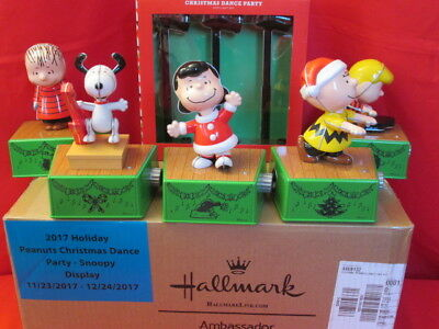 "Hallmark ""Peanuts Christmas Dance Party""  8 Pcs. New!  Snoopy  Charlie and Gang"