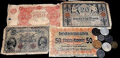 Germany Russia WW1  era Emergency currency and coins