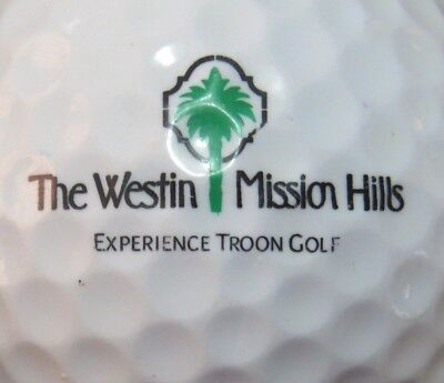 Westin Mission Hills Troon Country Club Golf Course Logo Golf Ball