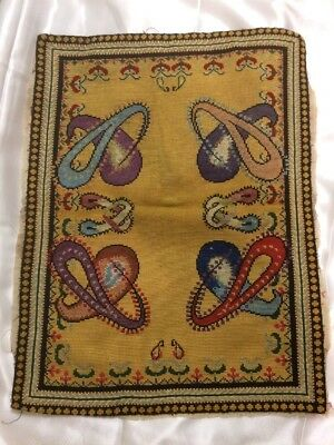 Antique Tapestry Needlework Art Nouveau? Embroidery