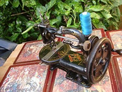 Antique Victorian Vintage Old CHAS RAYMOND Sewing Machine  1872c ** SEE VIDEO**