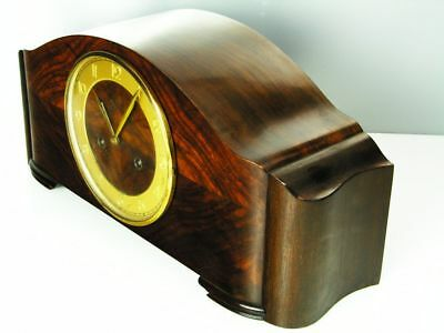 Beautiful Art Deco Design Chiming Mantel Clock From Junghans