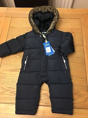 Ted baker Baby Boys Snowsuit BNWT £48 Age 9-12 Months Gorgeous Warm Xmas Gift