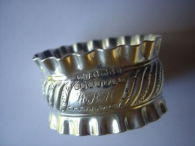 Antique Solid Silver Napkin Ring Sheffield 1887 James Dixon & Sons