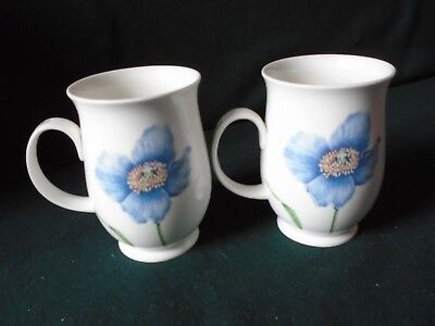 Two Dunoon mugs 'Favourite Flowers' designed by Jane Fern