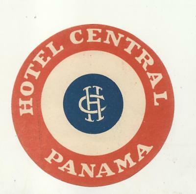 Hotel Central Panama Luggage Label