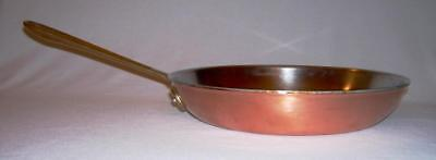 """Early All-Clad COP*R*CHEF Copper 10.5"""" SKILLET w/Stainless Steel-Aluminum Lining"""