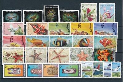 [G85137] Papua New Guinea good lot Very Fine MNH stamps