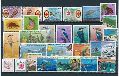 [G85141] Papua New Guinea good lot Very Fine MNH stamps