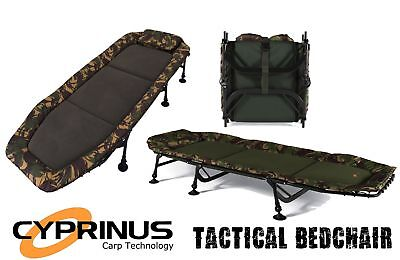 Cyprinus Camou Camouflage Carp Fishing Bedchair Bed Base Camp Compact Size