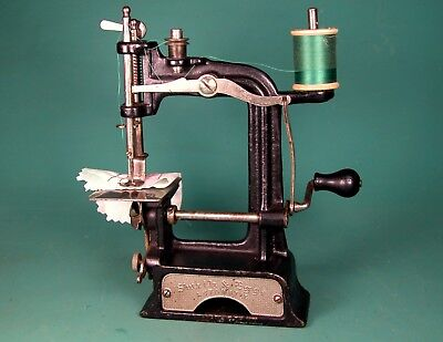 * RARE * SMITH & EGGE AUTOMATIC * TOY SEWING MACHINE * SEWS NICE * Pat. 1896-97