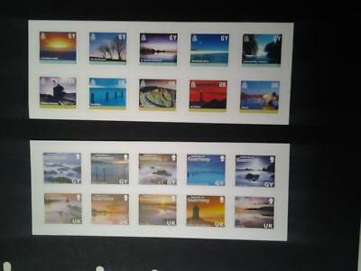 (C584) Guernsey Self Aheasive Stamps 2 Sets Of 10 Mnh More Listed