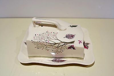 Crown Ducal Ash Grove Cheese/ Butter Dish -  1920's Vintage
